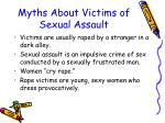 myths about victims of sexual assault