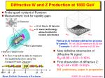 diffractive w and z production at 1800 gev