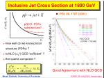 inclusive jet cross section at 1800 gev