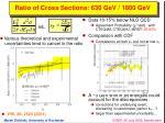 ratio of cross sections 630 gev 1800 gev