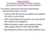 group activity if americans wanted to remain neutral why did the united states entered wwi