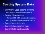 coating system data