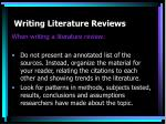 writing literature reviews10