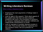 writing literature reviews12