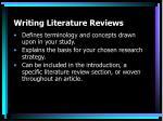 writing literature reviews8