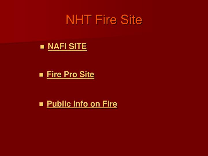 nht fire site n.