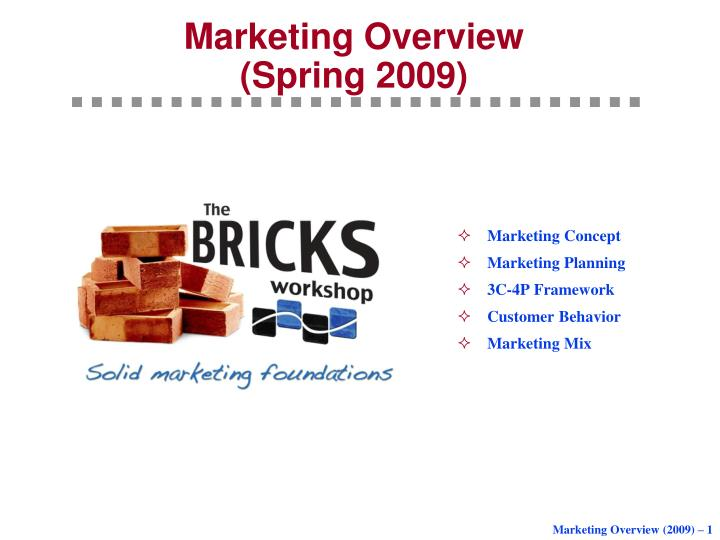 marketing overview spring 2009 n.