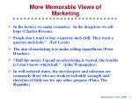 more memorable views of marketing
