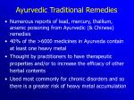 ayurvedic traditional remedies