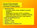 acute pancreatitis clinical presentation