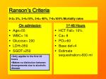 ranson s criteria 0 2 2 3 4 15 5 6 40 7 8 100 mortality rates