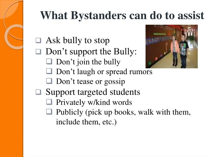 What Bystanders can do to assist