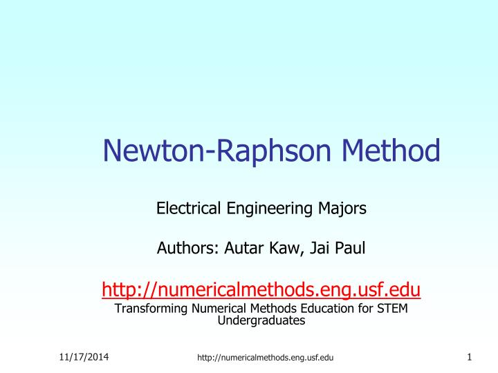 newton raphson method n.