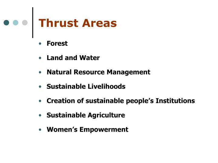 Thrust Areas