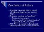 conclusions of authors