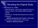 revisiting the original study