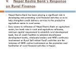 v nepal rastra bank s response on rural finance