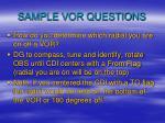 sample vor questions