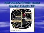 vor indicator with course deviation indicator cfi