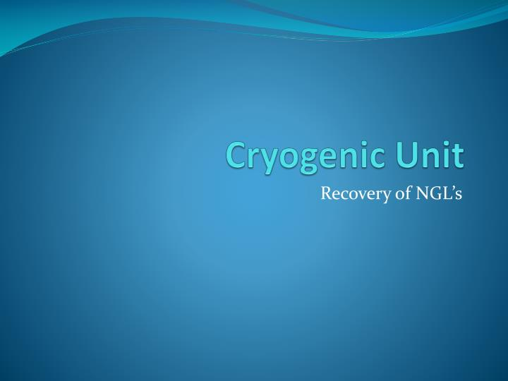 cryogenic unit n.