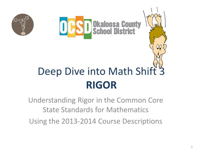 deep dive into math shift 3 rigor n.