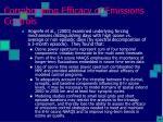 corroborating efficacy of emissions controls2