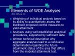 elements of woe analyses epa 2005 pg 321