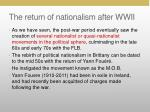 the return of nationalism after wwii2
