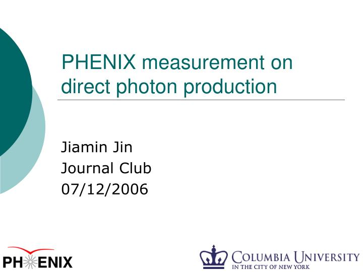 phenix measurement on direct photon production n.