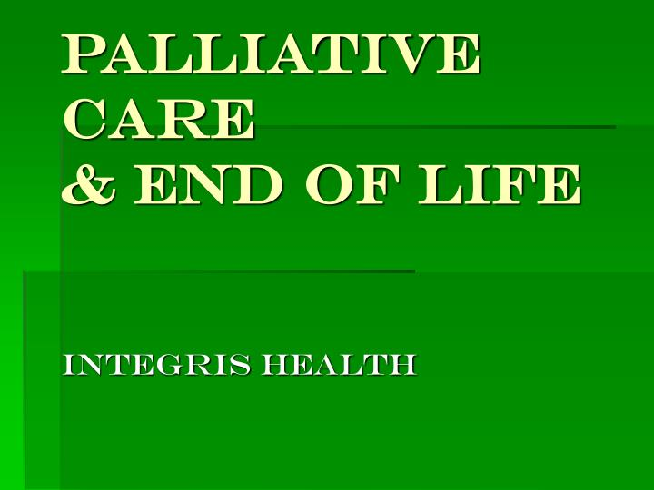 palliative care end of life n.