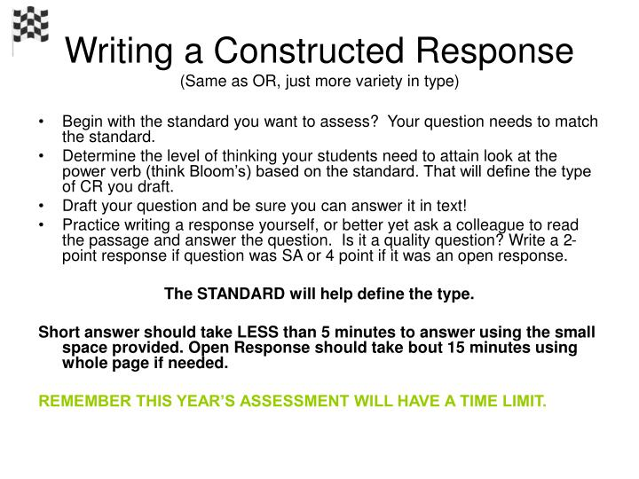 Writing a Constructed Response