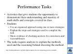 performance tasks1