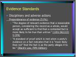 evidence standards