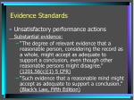 evidence standards1