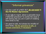 informal grievances