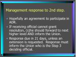 management response to 2nd step