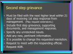 second step grievance