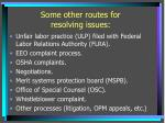 some other routes for resolving issues