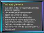 third step grievance