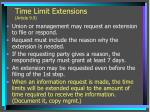time limit extensions article 9 9