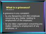 what is a grievance ma article 9