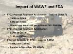 impact of wawf and eda