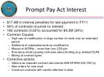 prompt pay act interest