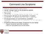 command line scriptome