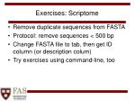 exercises scriptome