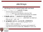 job arrays