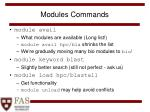 modules commands