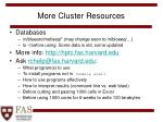 more cluster resources