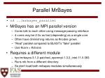 parallel mrbayes