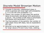 discrete model brownian motion